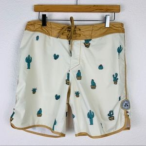 Imperial Motion Cactus Board Shorts Sz 32
